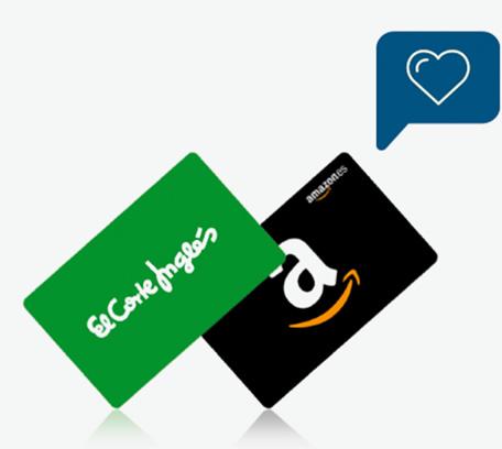20€ para comprar en el Corte Inglés o en Amazon.es